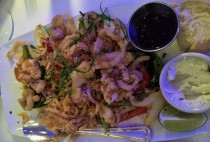 Fried Red Chili Calamari ($12.95)