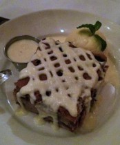 Blue and White Bread Pudding ($10.50)