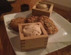 Oatmeal Cookie with Espresso Whipped Cream