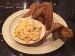 3 Jumbo Wing Dinner ($13.49) with a side of mac n' cheese
